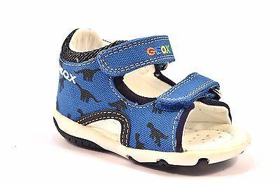 GEOX B52L8C 00010 C4011 BLU ELETTRICO 18 Sandalo Bambino Strappi Tallone Chiuso | eBay