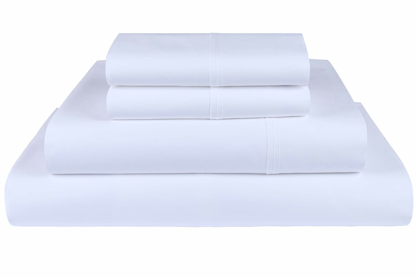 600 Thread Count Cotton Sheet Set Twin Size Soft Solid Sateen Weave 3 Piece