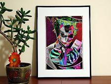 Batman The Joker Print Pattern Cartoon - A4 Glossy Poster - FREE Shipping