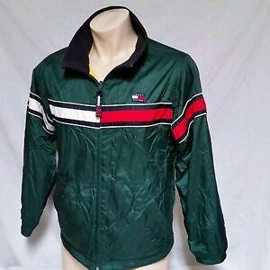 58a09c311a3b4 VTG Tommy Hilfiger Jacket 90s Flag Colorblock Ski Reversible Coat ...