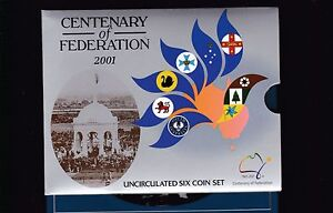 2001-UNC-Coin-SET-Australia-uncirculated