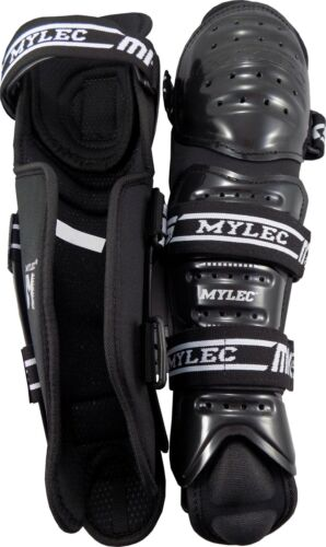 Mylec Senior MK5 Street Hockey Shin Pads Size 13 /& 15 Black White 161SR