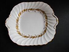 VINTAGE AYNSLEY KENT DESIGN SANDWICH/CAKE PLATE white & gold table wear (ref18)