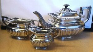 Beautiful-Antique-1905-Fully-Hallmarked-Solid-Silver-3-Piece-Tea-Service