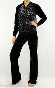 Image is loading NWT-JUICY-COUTURE-Leopard-Print-Black-Velour-Jacket- bb7daeaf8