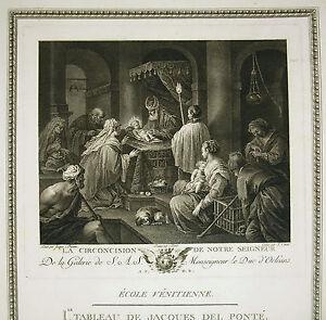 Fougueux J. Bassan La Circoncision De Notre Seigneur Gravure J. Couche Ed Couché 1786 Clair Et Distinctif