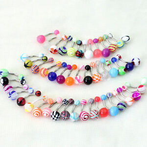 10-30-50-Mixed-Ball-Barbell-Bar-Navel-Belly-Button-Ring-Piercing-JewelryfjQ6Q