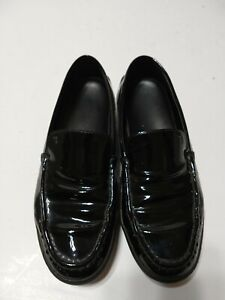 TOD'S womens Black patent leather slip