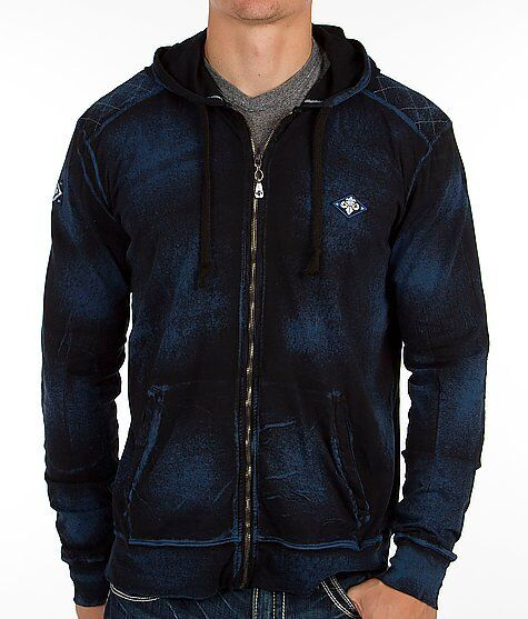 AFFLICTION Mens Hoodie Sweat Shirt Jacket ELECTRIC Fight Biker MMA UFC S-XL $78