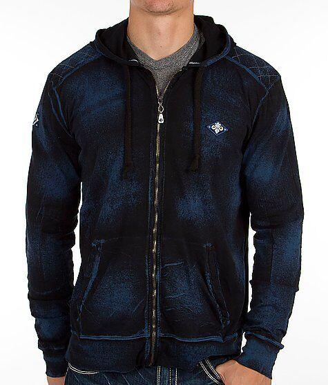 AFFLICTION Mens Hoodie Sweat Shirt Jacket ELECTRIC Fight Biker MMA UFC S-XL $78