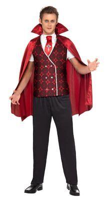 Dracula Medaillon Vampir Kette Vampirkette Karneval Anhänger Kostüm Zubehör