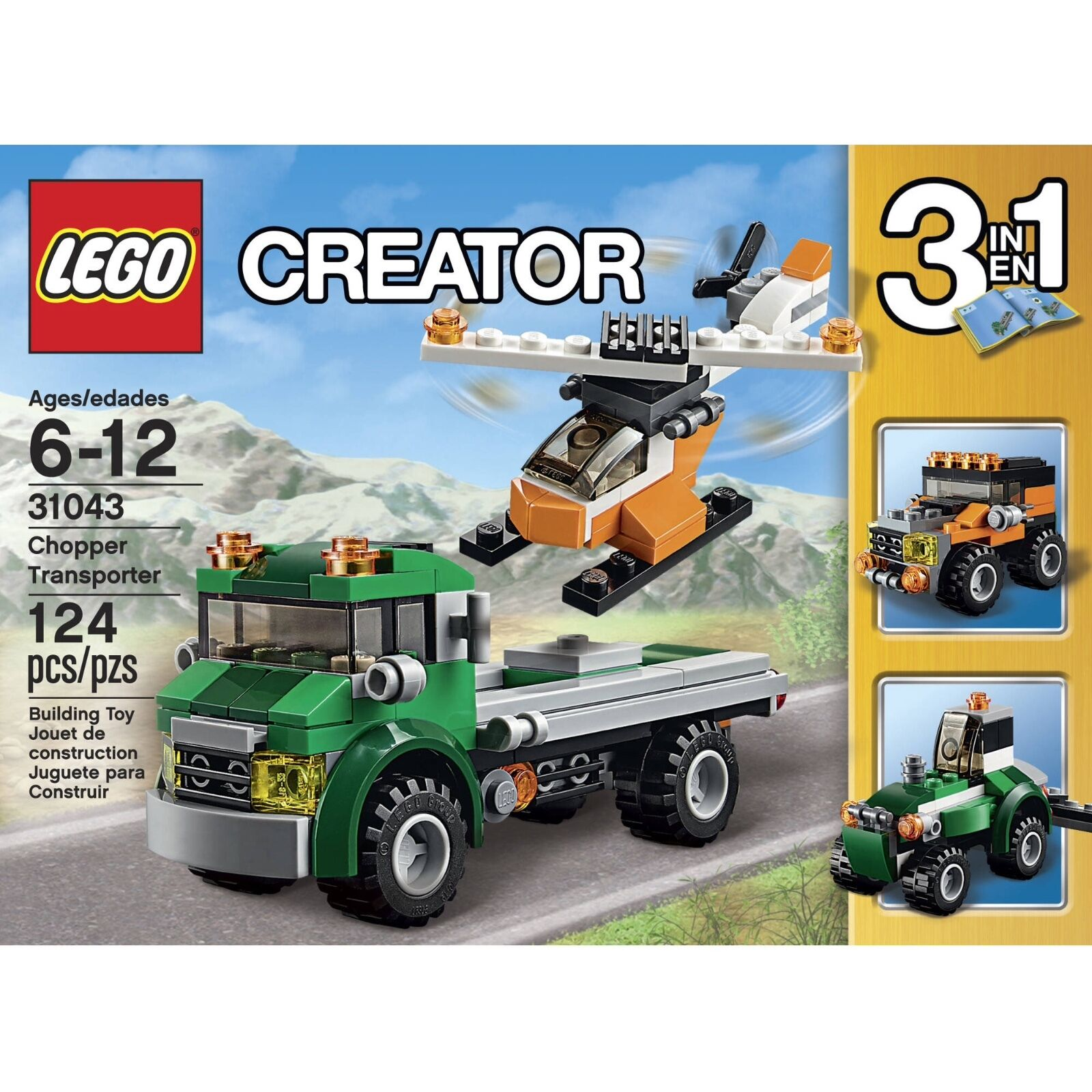 LEGO Creator (31043)  3-in-1  Chopper Transporter (Brand New & Factory Sealed)