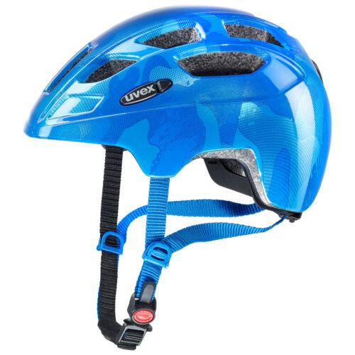 blue Uvex finale junior LED Fahrrad Helm Kopfschutz