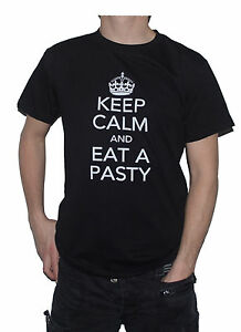 NEW-Keep-Calm-and-Eat-a-Pasty-Funny-T-Shirt-Cornish-Cheese-Onion-etc-Pastie