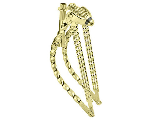"""20/""""  lowrider bike Bent Double Square Twisted Spring Fork 1/"""" Chrome gold"""