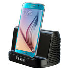 iHome Black Portable Stereo Speaker f Samsung Galaxy S3 S4 S5 S6 Edge Note Plus