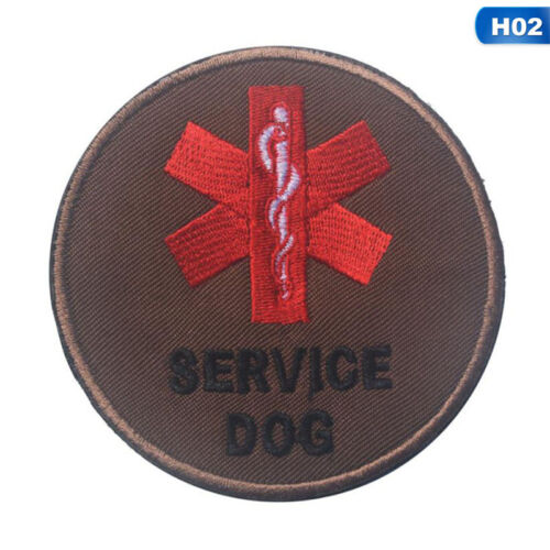 LOT OF 2 Service Dog In Training Do ot Touch Patches Hook And Patch#cue #mi GiuC