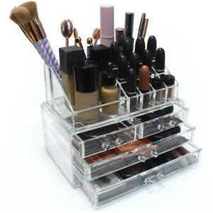 Clear-Cosmetic-Organiser-Acrylic-Makeup-Drawer-Holder-Jewellery-Case-Box-Storage