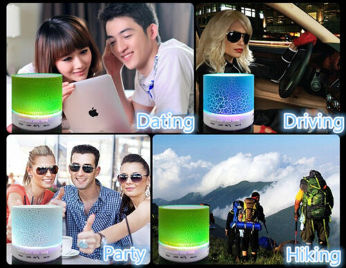 LED MINI Portable Bluetooth MP3 Speaker TF USB Music Sound Subwoofer Wireless