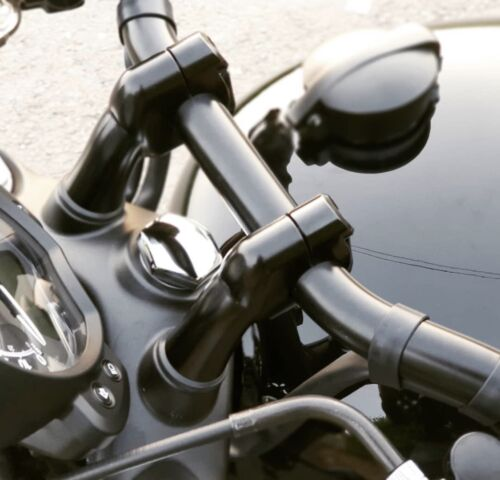 "Motone Up And Over Handlebar Risers 7//8"" BARS Triumph Street Twin Bonneville SE"
