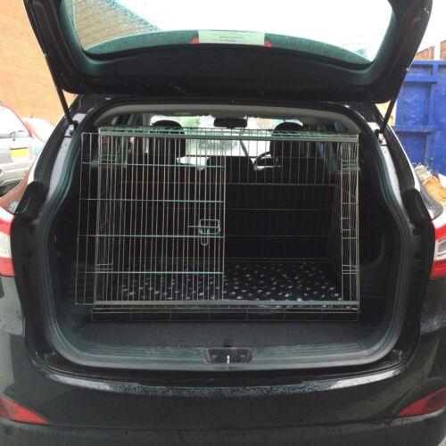 PET WORLD HYUNDAI IX35 SLOPING CAR DOG CAGE BOOT TRAVEL CRATE PUPPY SLOPED GUARD