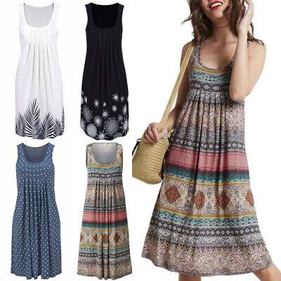 Women Beach Strappy Bodycon Mini Dress Boho Holiday Autumn Sundress Plus Sizes