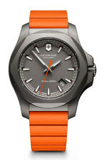 Victorinox Swiss Army I.N.O.X. Titanium  Grey Dial Orange Rubber Men's Watch 241