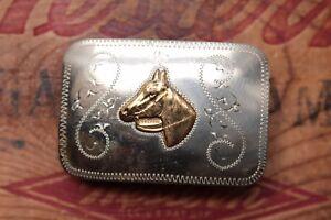 official shop Vintage MFG Nickel Silver Horse Head Western Cowboy ...