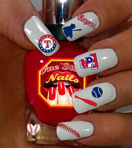 Image Is Loading Baseball Texas Rangers Fans Nail Art Decals Btr