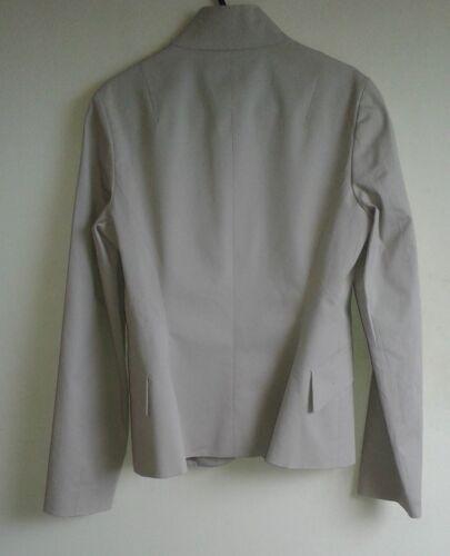 Kvinders Xs Jil Collar Mandarin Sander Blazer Beige Navy 0qw6xw