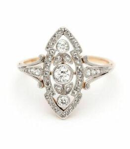 151beb7b57456 Details about Vintage Art Deco 1.15Ct Antique Engagement Ring Circa 1920's  14k White Gold Over