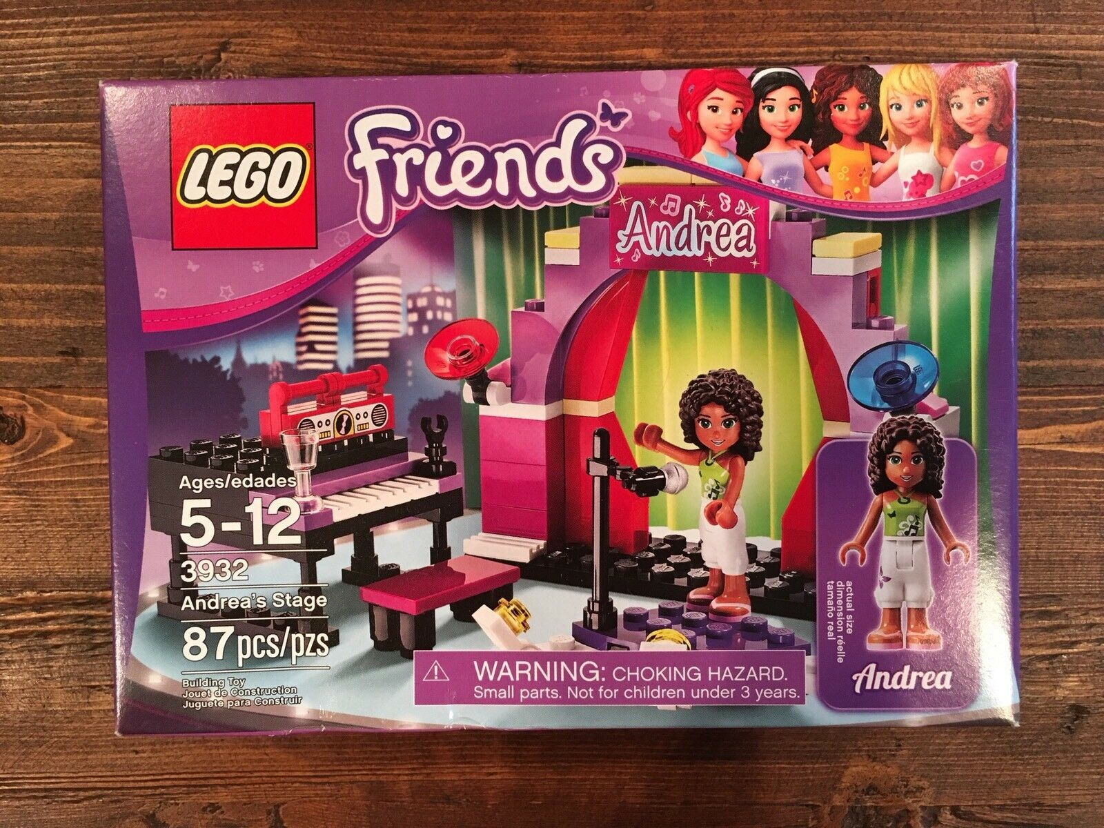 NEW NEW NEW Lego Friends Andrea's Stage (3932) Retired Set 1d7e7d
