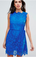 Zibi London  Ladies All Over Lace Skater Dress in Sax Blue UK 16/EU 44