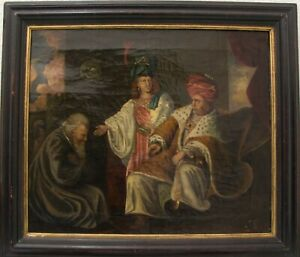 REMBRANDTIST-JOSEPH-ZEIGT-DEN-PHARAOH-SEINEM-VATER-1639