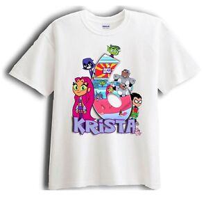 boy/'s birthday t-shirt. Teen Titans Go Birthday T-shirt-Personalised girl/'s