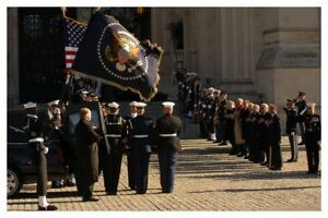 Gerald Ford State Funeral Casket At National Cathedral Silver Halide Photo