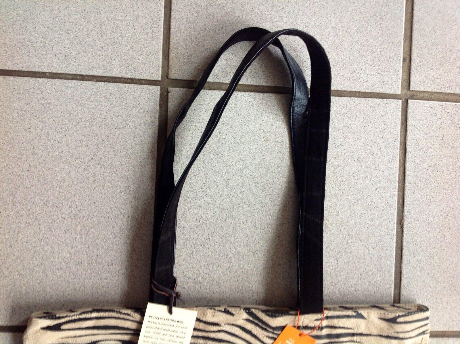 Tasche Leder Leder Leder Zebra schwarz weiß.  NEU | Luxus  065f34