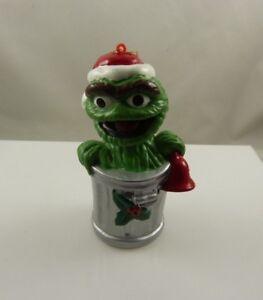 Oscar-the-grouch-Sesame-street-garbage-can-Christmas-ornament-Kurt-S-Adler