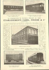72-LE-MANS-ETS-CAREL-FOUCHE-CONSTRUCTION-MATERIEL-ROULANT-WAGONS-1926