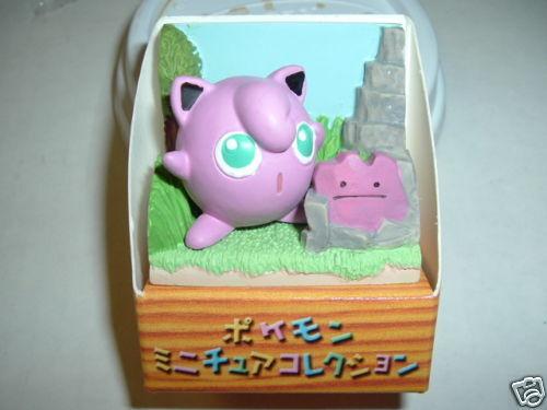 Pokemon JIGGLYPUFF Action Figure Ceramic Diorama japan  Jiggly Puff Jigly puf