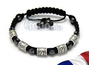 Élégant Bracelet Noir Homme/femme Shamballa Perles En Métal+hematite+fil Nylon Yp3zznpz-07234717-498087976