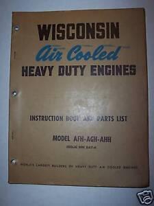 Teledyne Wisconsin Motor Repair Manual Book