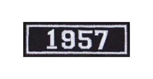 1957 Biker Patches Aufnäher Jahreszahl Geburtsjahr Birth Year Rocker Motorrad MC