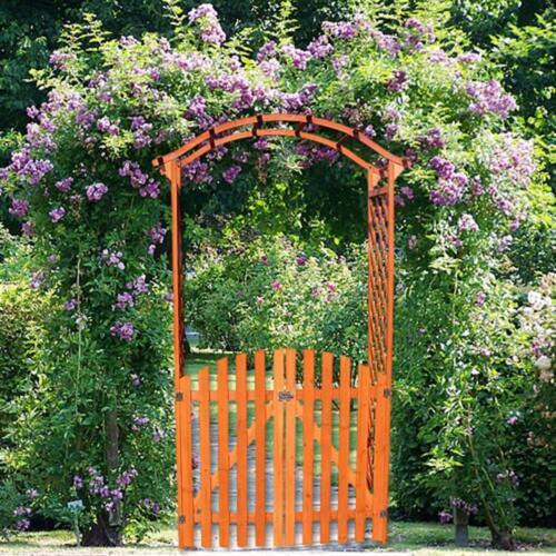Rosen Bogen Holz Spalier Pergola Torbogen Garten Tor Rank Gitter Tür Rankhilfe