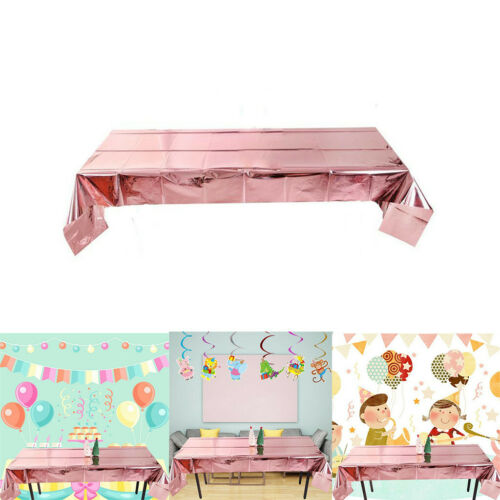 Leaveable Rose Gold Tablecloth Christmas Party Decoration Foil Tablecloth