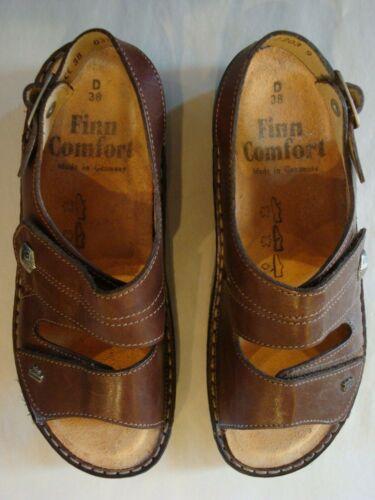 Finn Comfort Milos Brown Leather Sandals ~ Women's