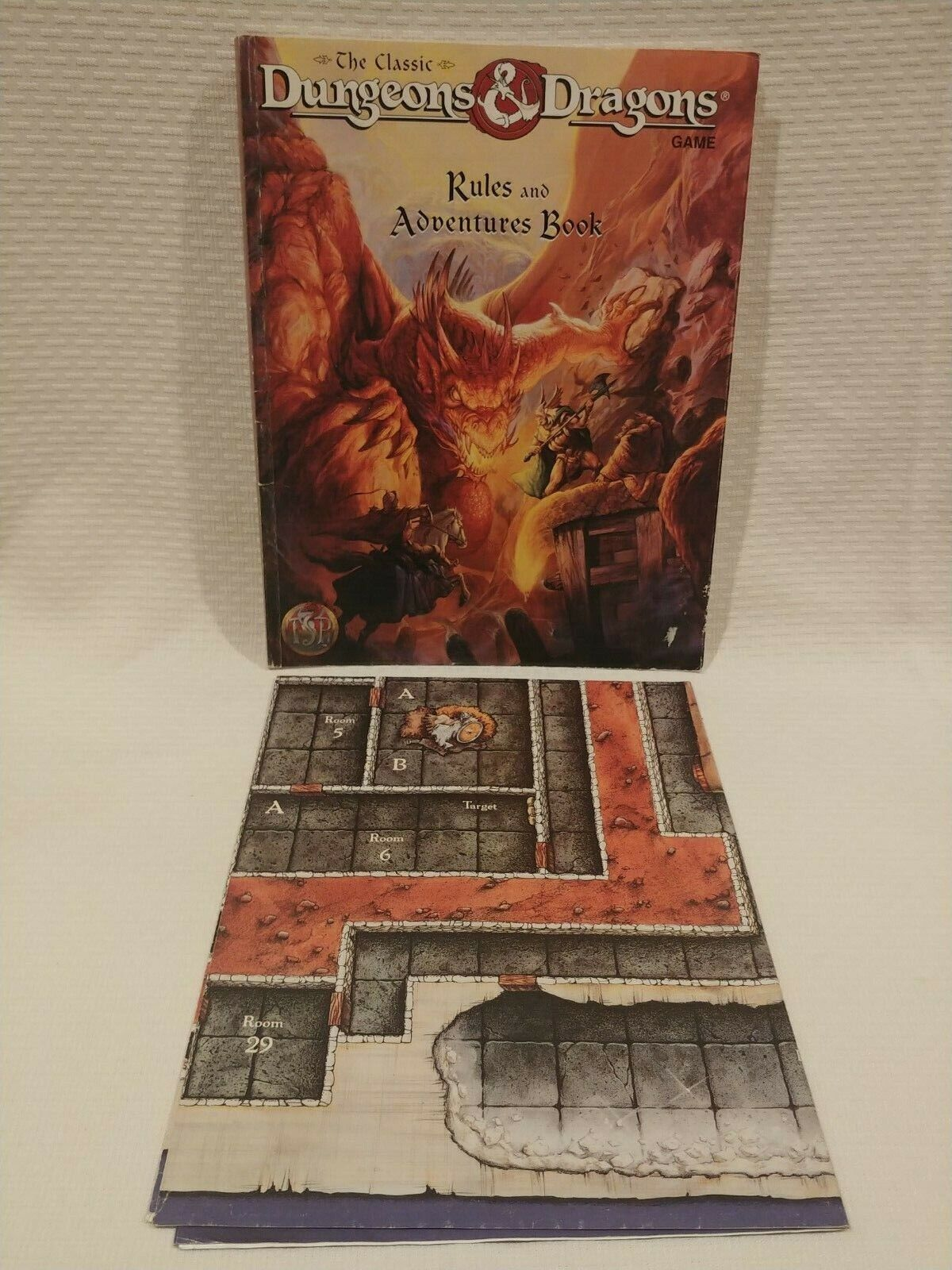 The Classic Dungeons & Dragons Game Rules and Adventures Book with Zanzer's Map