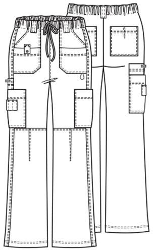 Dickies 857455 Low Rise Drawstring Cargo Pant Dark Khaki