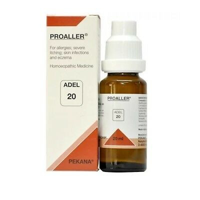 ADEL 20 Homoeopathic Proaller Drop For Allergies, Severe Itching, Skin 20ml  | eBay