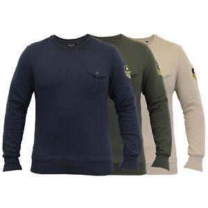 Mens-Sweatshirt-Brave-Soul-Military-Badge-Pullover-Top-Fleece-Lined-Winter-New